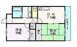 城東グリーンマンション[3階]の間取り