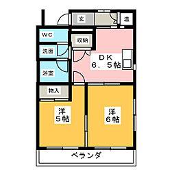 けやきの森 ルポ アート スクエア[1階]の間取り