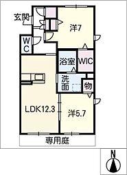 仮)シャーメゾン鹿田花の木[1階]の間取り