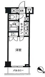 パレステュディオ新宿パークサイド(ネット無料)[1003号室号室]の間取り