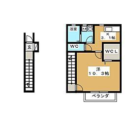 ソレイユパルクXI番館[2階]の間取り