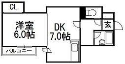 シティクレストVI[2階]の間取り