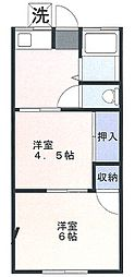 松美荘[1階]の間取り