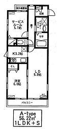 ヴィラブラン[1階]の間取り