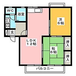 セジュール・プルニエ A棟[1階]の間取り
