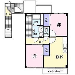 [大東建託]ベルセレーノ[2階]の間取り