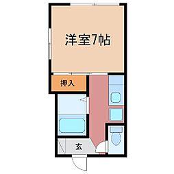 静岡県富士市緑町の賃貸アパートの間取り