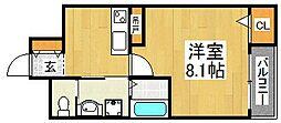 エヌエムトラントイースト[3階]の間取り