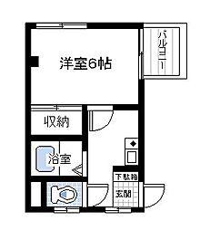 早川コーポIII[2階]の間取り