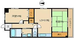 ラ・ティエラ[8階]の間取り