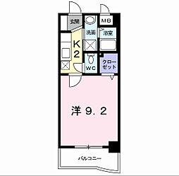 福岡県北九州市小倉南区西水町の賃貸マンションの間取り
