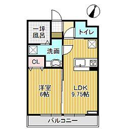 ルガル・ボニート・エフ[2階]の間取り