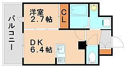 アンピールメゾン春日原駅前[6階]の間取り