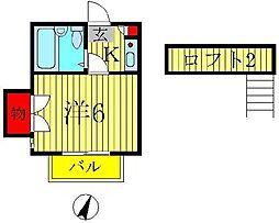 ベル21南柏[2階]の間取り
