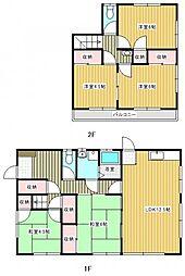 [一戸建] 茨城県取手市新町6丁目 の賃貸【茨城県 / 取手市】の間取り