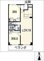 Active・T[3階]の間取り