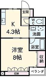 愛知県安城市三河安城本町1丁目の賃貸マンションの間取り