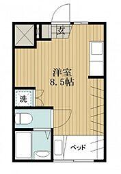 広島県広島市南区西本浦町の賃貸アパートの間取り