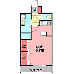 アドバンテージ守口 6階ワンルームの間取り