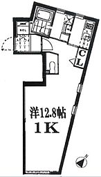 東京都渋谷区恵比寿2丁目の賃貸マンションの間取り