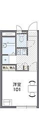 レオパレスBelltree[1階]の間取り