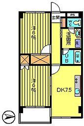 第3長庄マンション[1階]の間取り