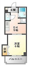 サンクリエイト江坂[6階]の間取り