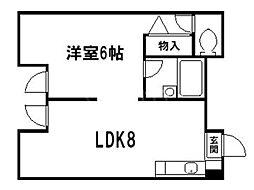 ルネ堀川[4階]の間取り