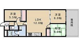 朝日プラザ阿倍野III[1階]の間取り