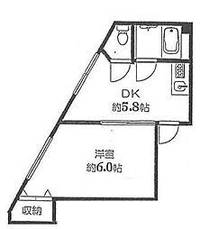 東京都板橋区成増4の賃貸マンションの間取り