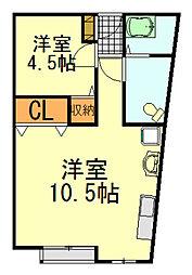 レインボーハウス千葉寺[2階]の間取り