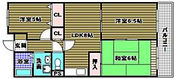 グランドハイツ杉田I[3階]の間取り