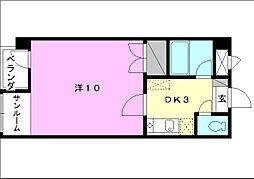 第80杉フラット[102 号室号室]の間取り
