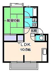 泉ハイツ2号棟[2階]の間取り