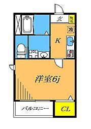 目黒本町5丁目新築 1階1Kの間取り
