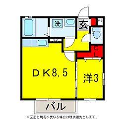 ボナールD[2階]の間取り