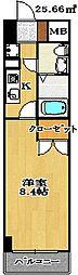 千葉県船橋市本町1丁目の賃貸マンションの間取り