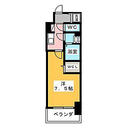 エスリード新栄プライム 3階1Kの間取り