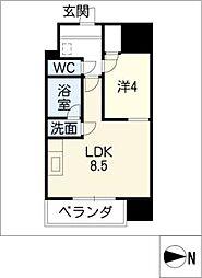 マストスタイル東別院[4階]の間取り