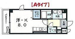 埼玉県さいたま市浦和区領家2丁目の賃貸マンションの間取り