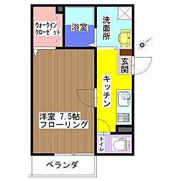メゾンAki[202号室]の間取り