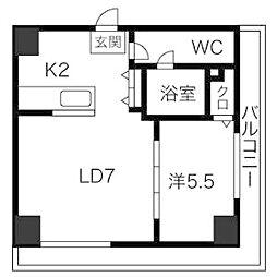 AMSタワー中島[3階]の間取り