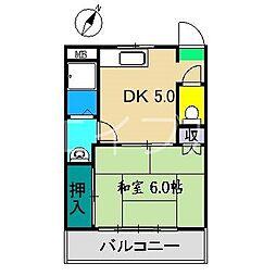 コスモハイツ高須[1階]の間取り