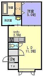 クリアネスI[102号室]の間取り