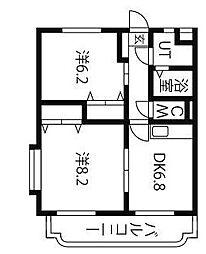 ユーミークアトロ[2階]の間取り