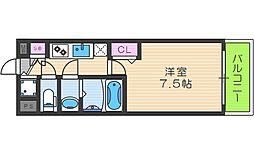 フォーリアライズ天神橋ルーチェ 2階1Kの間取り