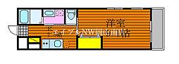 岡山電気軌道東山本線 東山・おかでんミュージアム駅駅 徒歩36分の賃貸アパート 2階1Kの間取り