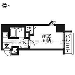 エスリード京都駅前[4階]の間取り