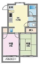 神奈川県横浜市鶴見区上末吉4丁目の賃貸マンションの間取り