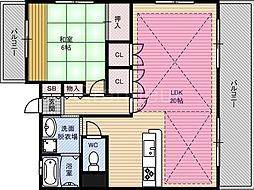 ベルデ・カーサ[4階]の間取り